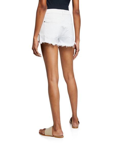 Cutoff Jean Shorts, Clean White