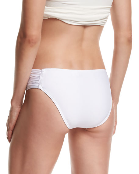 Premier Shirred-Side Swim Bikini Bottom