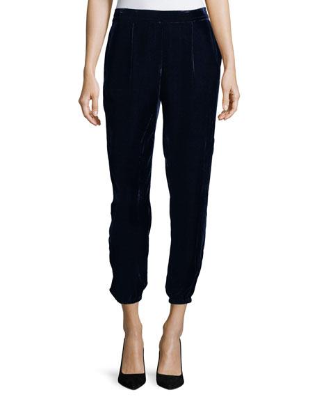 Joie Jaylon Velvet Ankle Pants