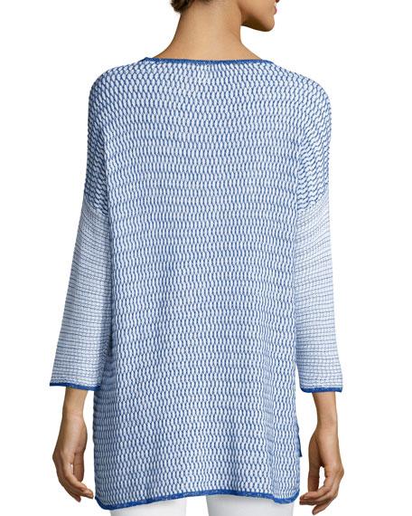 Belford Long-Sleeve Oversized Pullover W/ Trim