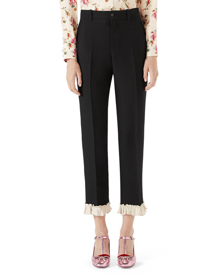 Gucci Cady Crepe Wool Suiting Pants