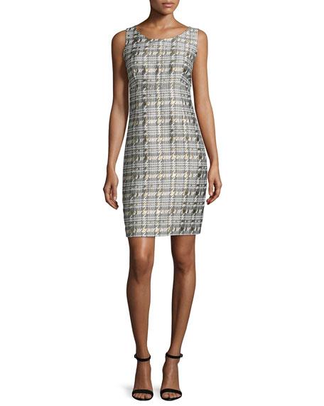 Houndstooth Jacquard Jacket & Sheath Dress Set