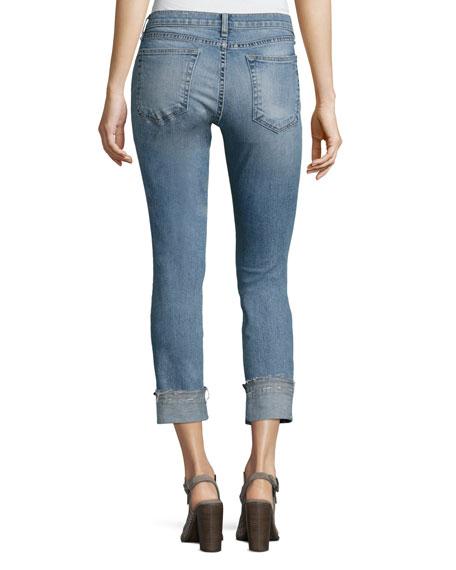Dre Cropped Slim Boyfriend Jeans, Kingston