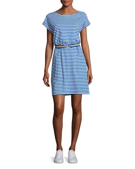 MiH Boater Striped T-Shirt Dress, Blue/White
