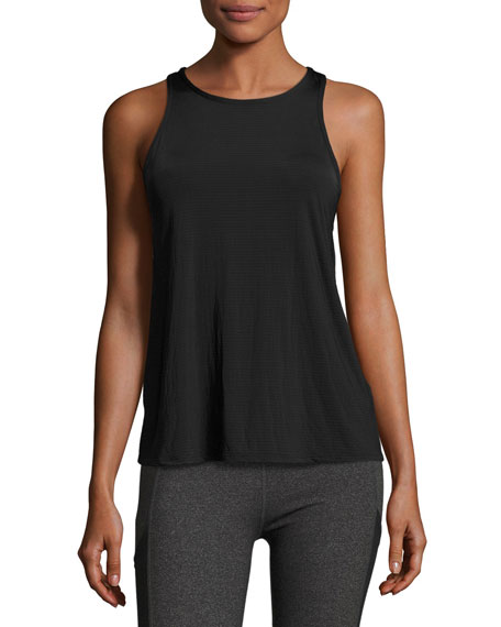 Beyond Yoga Sleek Stripe Waterfall Swing Tank, Black
