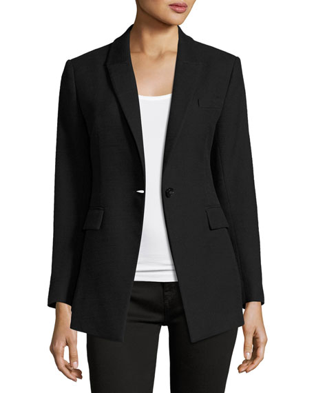Theory Etiennette Item Canvas Sport Jacket, Black