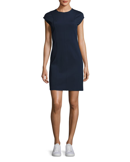 Theory Onine Oxford Knit Day Dress, Blue