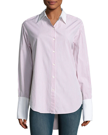 Essex Striped Shirt with Contrast Trim