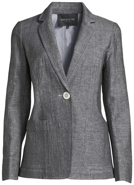 Alba One-Button Blazer