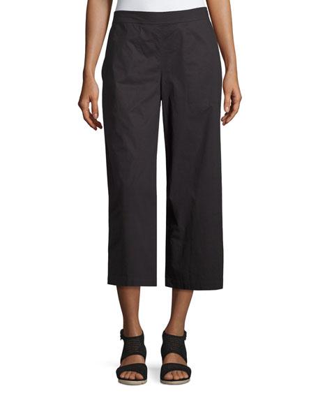 Organic Cotton Wide-Leg Cropped Pants
