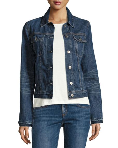 rag & bone/JEAN Cuff-Less Jean Jacket, Medium Indigo