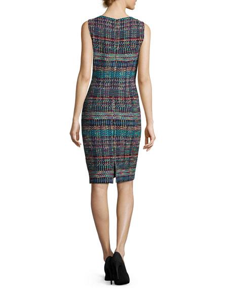 Dara Knit Jewel-Neck Sheath Dress