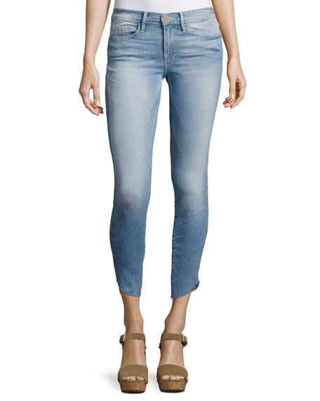 FRAME Le Skinny De Jeanne Cropped Jeans with