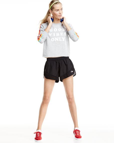 Altertude Hybrid Running Shorts, Black