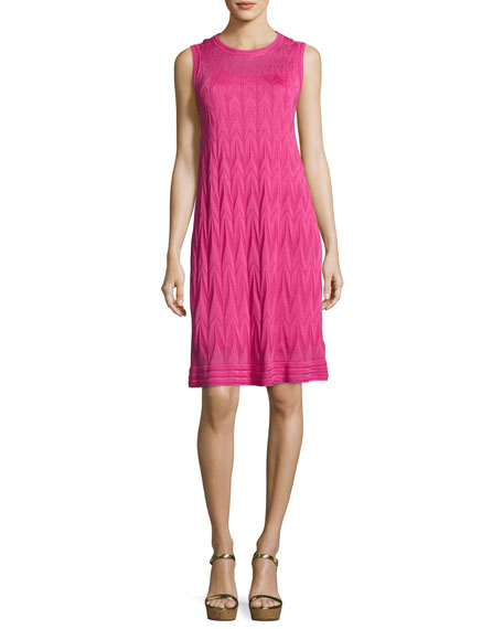 M Missoni Sleeveless Zigzag Knit Dress