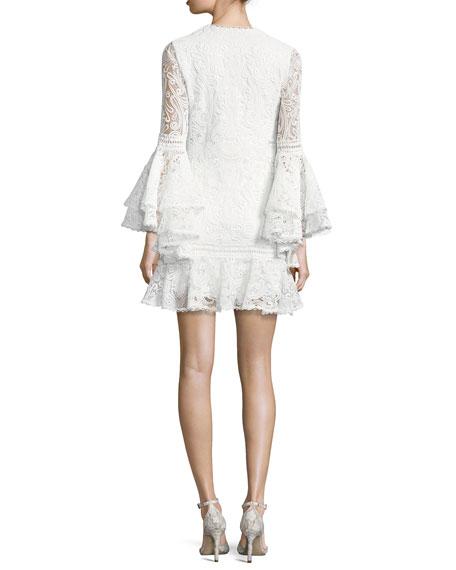 Veronique Lace Shift Dress, White
