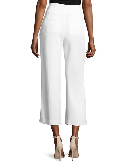 Marley Wide-Leg Cropped Pants