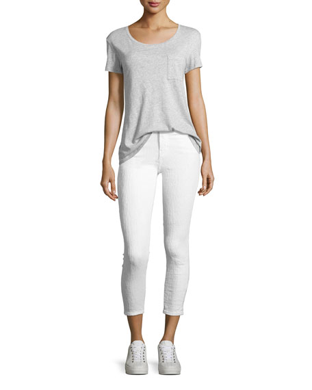 Alana High-Rise Cropped Skinny Jeans, White