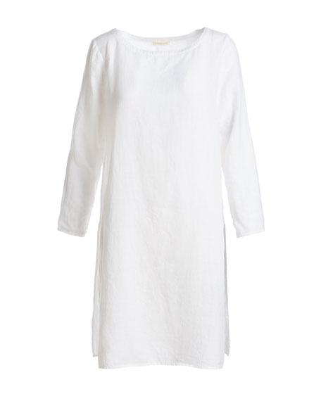 Organic Handkerchief Linen Tunic, Plus Size