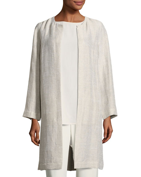Eileen Fisher Organic Linen/Cotton Topper Jacket
