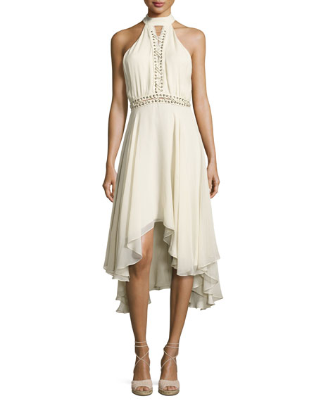 Haute Hippie The Free Spirit Lace-Up Silk Dress,