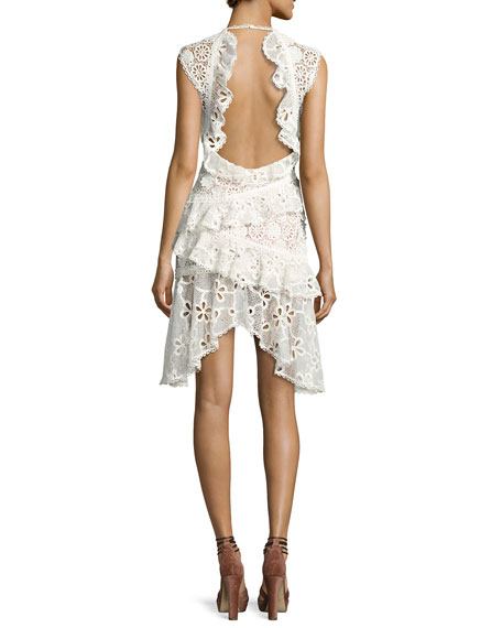 Arleigh Sleeveless Lace Tiered Dress