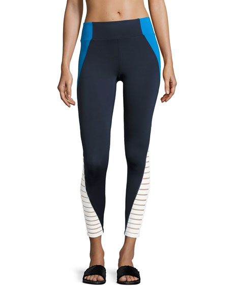 Tread Performance Tight/Leggings, Blue/White