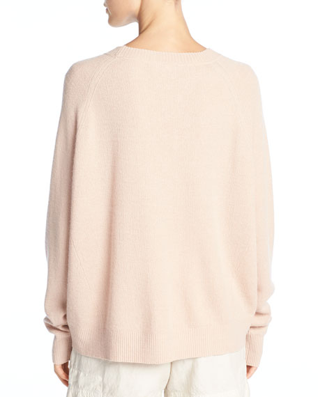 Cashmere-Linen Crewneck Pullover