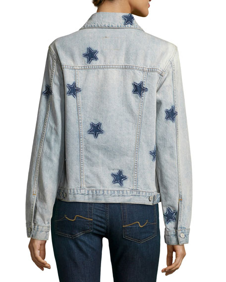 Rails Knox Star-Print Denim Jacket, Blue