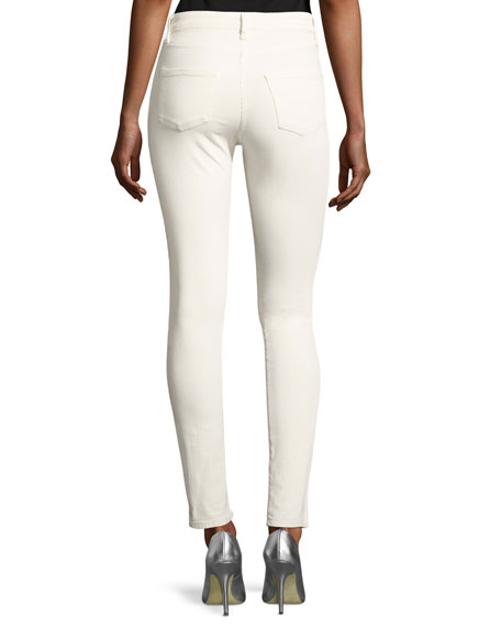 Reina Max Lacey Skinny Pants, White