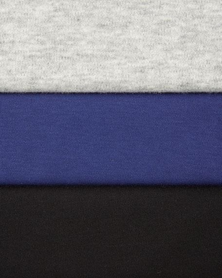 Joan Vass Plus Size Scoop-Neck Cotton Interlock Tunic/Tank, Gray Heather