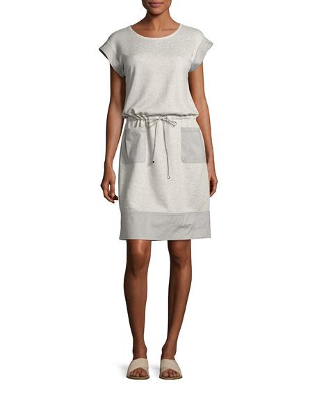 Lafayette 148 New York Scoop-Neck Drawstring-Waist Knit Dress,