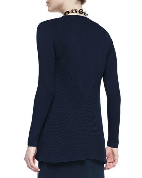 Silk Cotton Interlock Jacket, Midnight, Petite