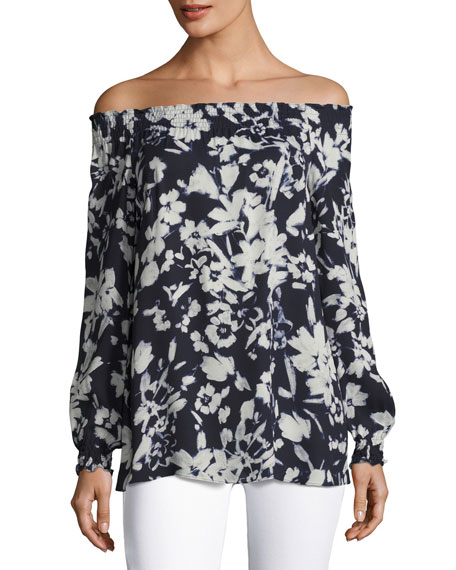 Lafayette 148 New York Raelyn Off-the-Shoulder Floral-Print