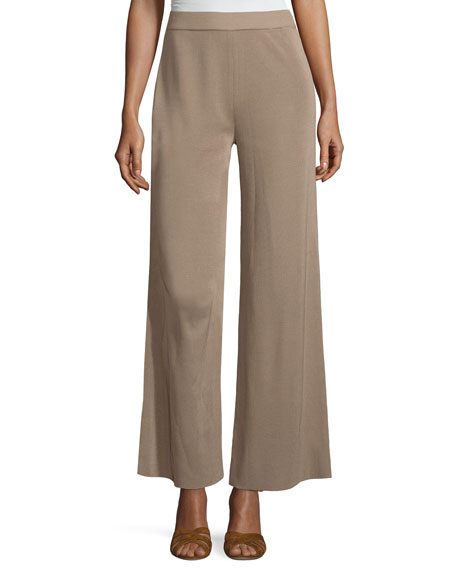 Misook Demi Palazzo Pants, Light Brown