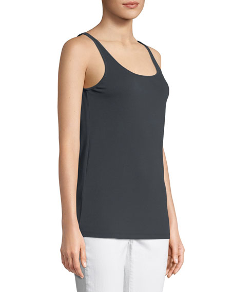 Petite Silk Jersey Long Slim Camisole