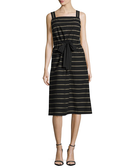 Lafayette 148 New York Lorelei Sleeveless Vesterbo Striped