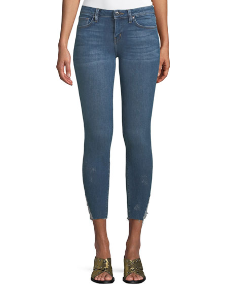 Iro Jarod Cropped Mid-Rise Skinny Jeans, Blue