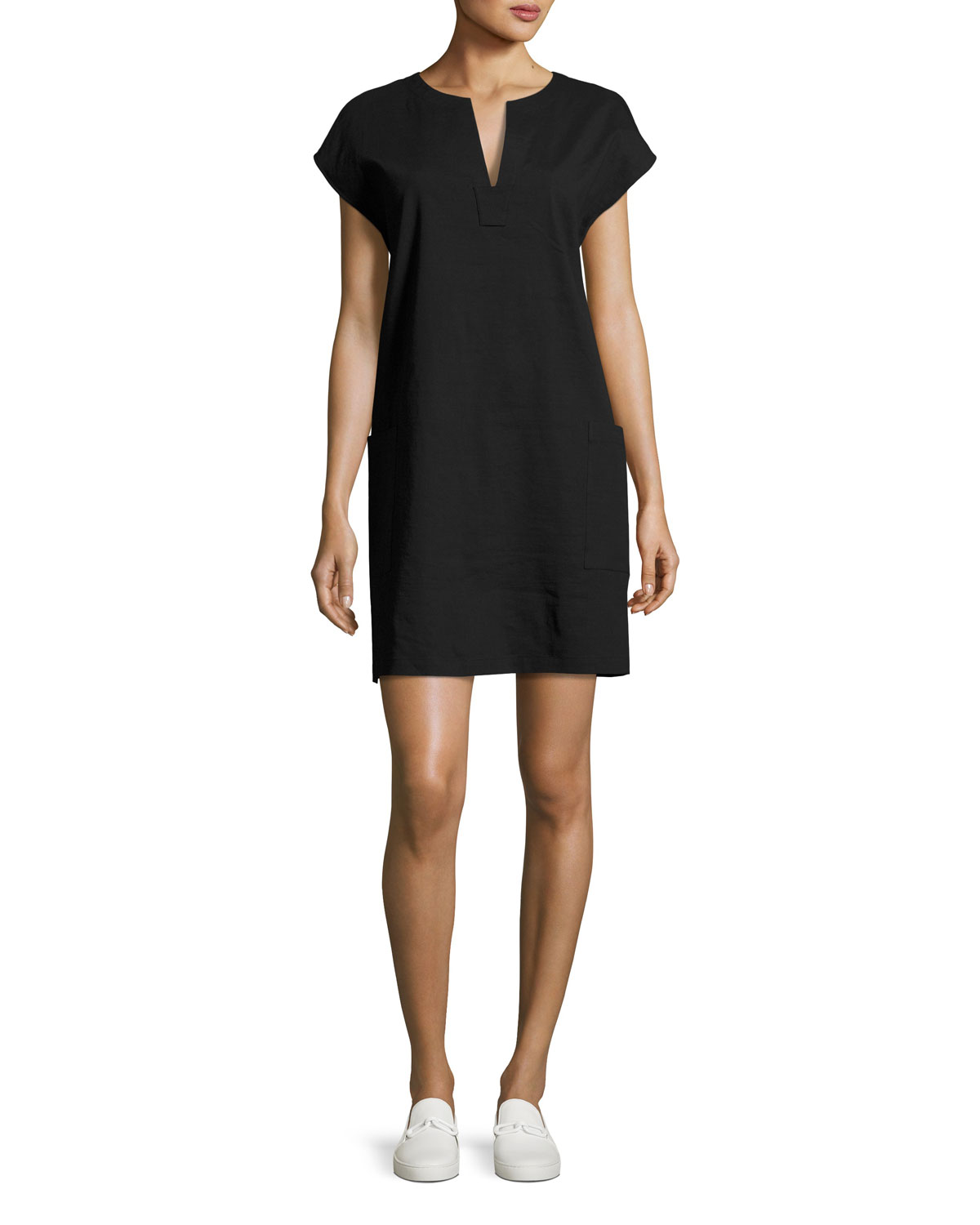 fd481954 Theory Saturnina Crunch Wash Shift Dress | Neiman Marcus