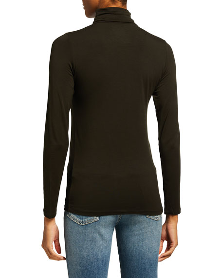 Image 4 of 5: Majestic Filatures Soft Touch Long-Sleeve Turtleneck