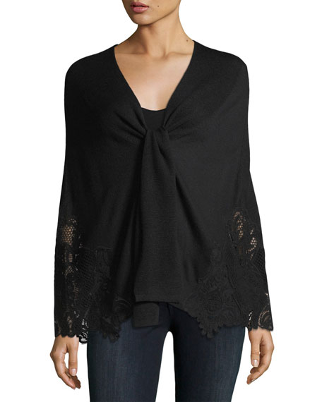 Benita Lace-Trim Extrafine Merino Sweater