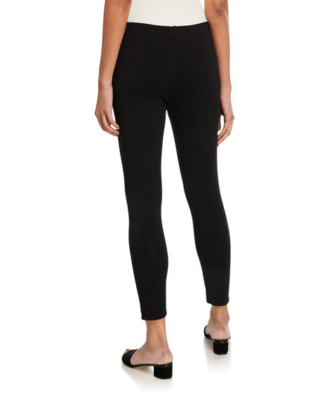 Jersey Ankle Leggings, Black