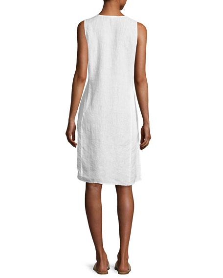 Handkerchief Linen Wrap Tunic, White