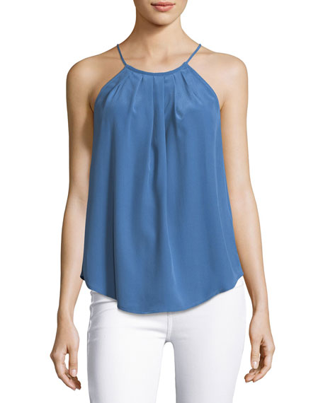 Joie Amarey High-Neck Silk Tank