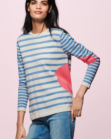 Lisa Todd Striped Dot Long-Sleeve Sweater