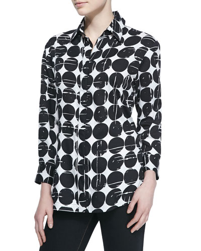 WOMENS EBONY MOON POLKA DOT