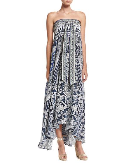 Camilla Long Sarong Printed Coverup Dress