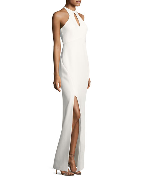 Elston High-Neck Sleeveless Gown