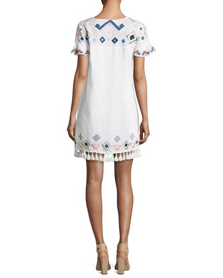 Marina Embroidered Coverup Swim Dress, White