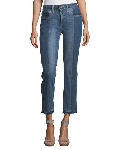 Paige Denim Taylor High-Rise Straight-Leg Denim Jeans